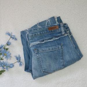 Blank NYC frayed skinny jeans